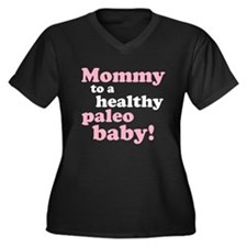 Paleo Mommy Women's Plus Size V-Neck Dark T-Shirt