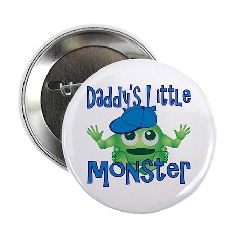 "Boy Daddy's Little Monster 2.25"" Button"
