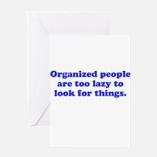 Organized People Greeting Card