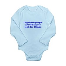 Organized People Long Sleeve Infant Bodysuit
