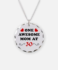 30th Birthday Awesome Mom Necklace