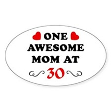 30th Birthday Awesome Mom Decal