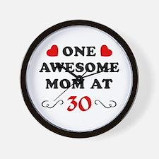 30th Birthday Awesome Mom Wall Clock