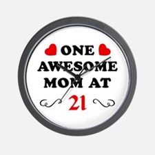 21st Birthday Awesome Mom Wall Clock