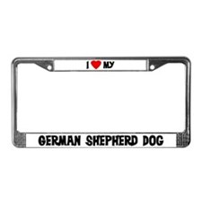 German Shepherd Dog License Plate Frame