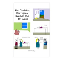 five completely unacceptable Postcards (Package of
