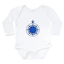 Compass Rose Long Sleeve Infant Bodysuit