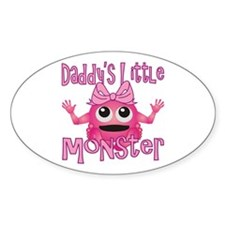 Girl Daddy's Little Monster Decal