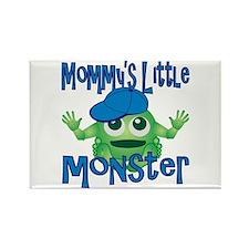 Boy Mommy's Little Monster Rectangle Magnet