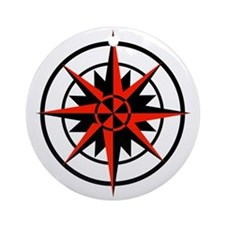 Compass Rose Ornament (Round)