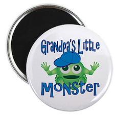 """Boy Grandpa's Little Monster 2.25"""" Magnet (10 pack"""