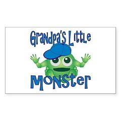 Boy Grandpa's Little Monster Decal