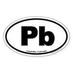 Leadville Colorado Pb Euro Oval Sticker
