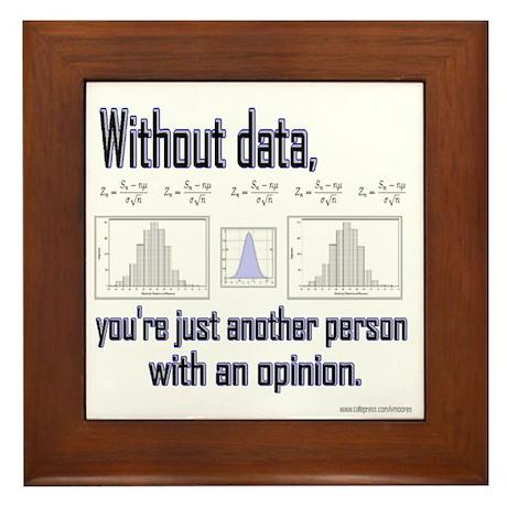 Without Data... Framed Tile