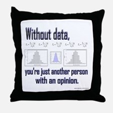 Without Data... Throw Pillow