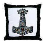 Thor's Hammer X-S Throw Pillow
