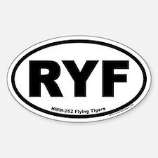 HMM-262 Flying Tigers RYF Oval Decal