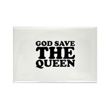 God Save the Queen (text: bla Rectangle Magnet