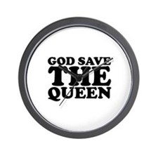 God Save the Queen (text: bla Wall Clock