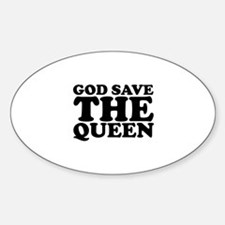God Save the Queen (text: bla Sticker (Oval)