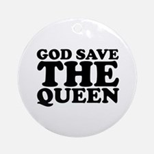 God Save the Queen (text: bla Ornament (Round)