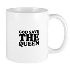 God Save the Queen (text: bla Small Mug