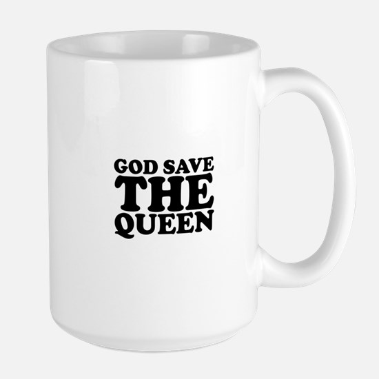 God Save the Queen (text: bla Large Mug