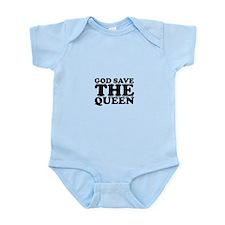 God Save the Queen (text: bla Infant Bodysuit