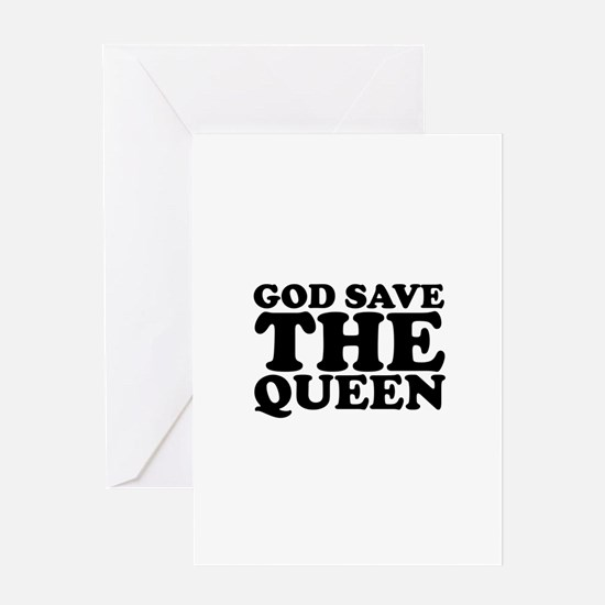 God Save the Queen (text: bla Greeting Card