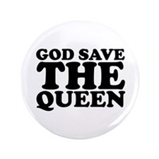 """God Save the Queen (text: bla 3.5"""" Button"""