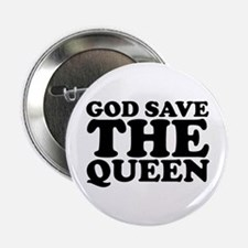 """God Save the Queen (text: bla 2.25"""" Button"""