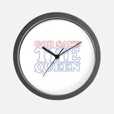 God Save the Queen (text: whi Wall Clock