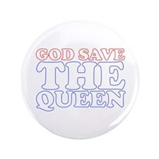 """God Save the Queen (text: whi 3.5"""" Button"""