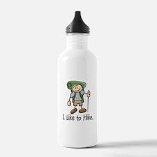 I Like To Hike (Green) Water Bottle