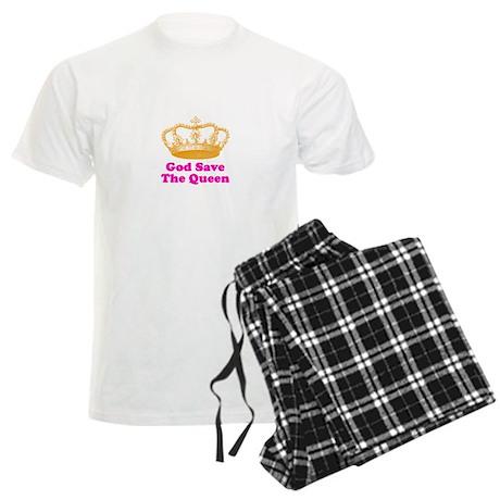God Save the Queen (orange/pi Men's Light Pajamas