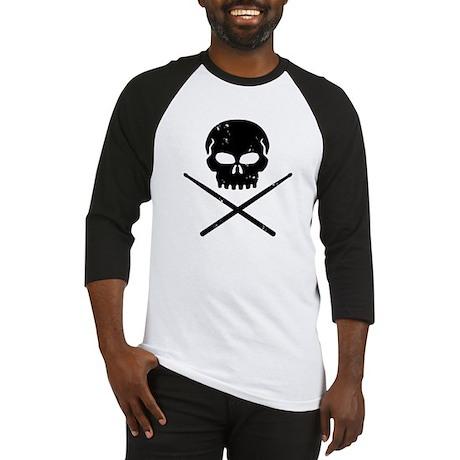 Skull and Drum Sticks Baseball Jersey
