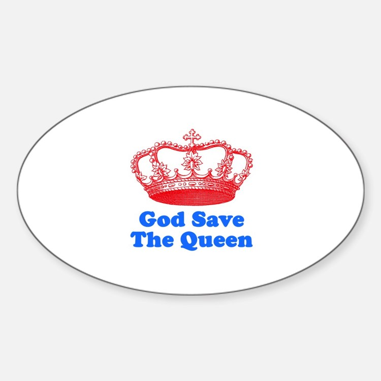 God Save the Queen (red/blue) Decal