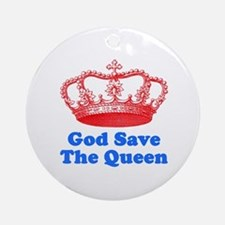 God Save the Queen (red/blue) Ornament (Round)