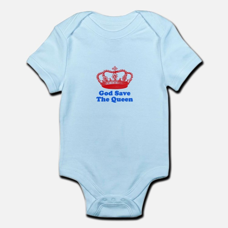 God Save the Queen (red/blue) Infant Bodysuit