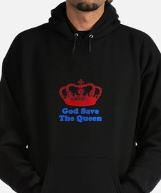 God Save the Queen (red/blue) Hoodie (dark)