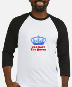 God Save the Queen (blue/red) Baseball Jersey