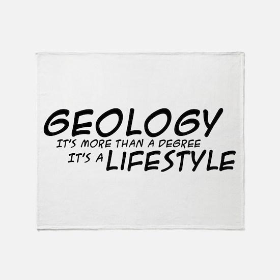 Geology Lifestyle Throw Blanket