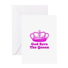 God Save the Queen (pink) Greeting Card