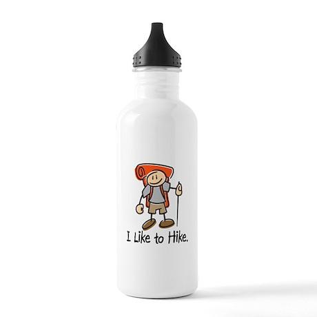 I Like To Hike (Orange) Stainless Water Bottle 1.0