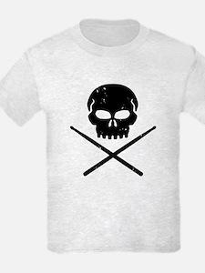 Skull and Drum Sticks T-Shirt