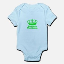 God Save the Queen (green) Infant Bodysuit