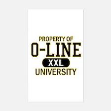 O-LINE U Sticker (Rectangle)