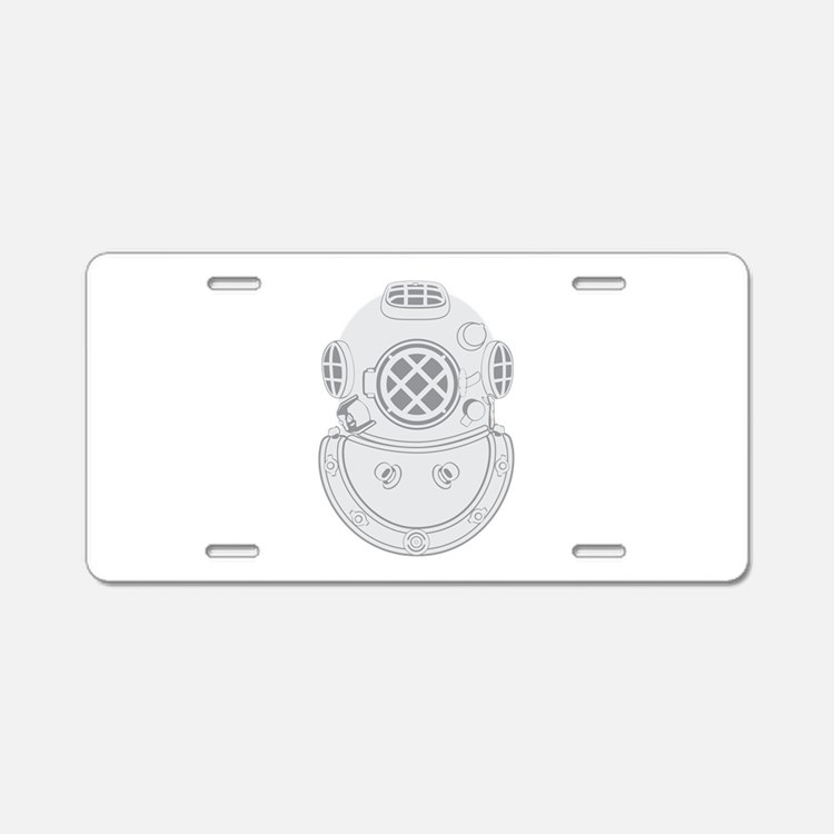 Second Class Diver Aluminum License Plate