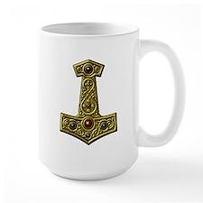 Thor's Hammer X - Gold Mug
