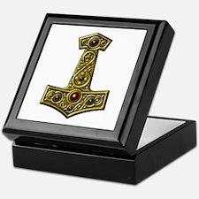 Thor's Hammer X - Gold Keepsake Box